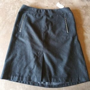 Banana Republic Wool Blend Black Skirt